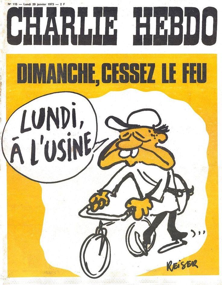 Charlie Hebdo - # 115 - 29 Janvier 1973 - Couverture : Reiser