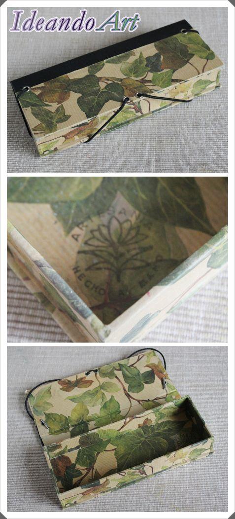 Estuche handmade de cartonage con hiedras by IdeandoArt