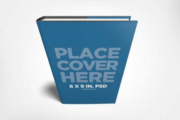 Standing 6 X 9 Hardcover Book Mockup With Dust Jacket Covervault Hardcover Book Hardcover Mockup