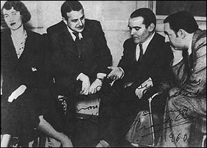 Pablo Neruda et Federico García Lorca à Buenos Aires, octobre 1933.