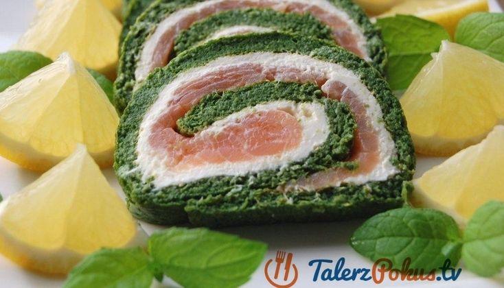 Przepisy » Przekąski i przystawki » Domowe wędliny » Rolada ze szpinaku z łososiem » TalerzPokus.tv - przepisy kulinarne z filmami