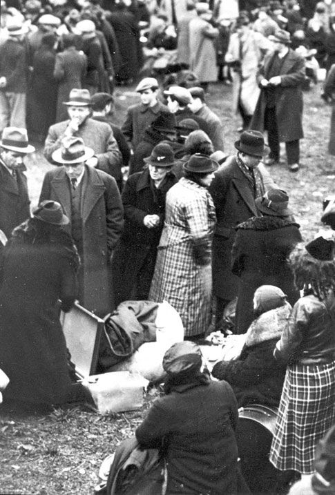 October 1938, German Jews with Polish citizenship deported to the Polish border town of Zbaszyn