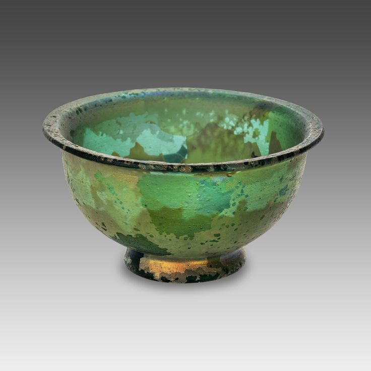 Roman small glass cup (Patella), 1st century AD More at FOSTERGINGER At Pinterest