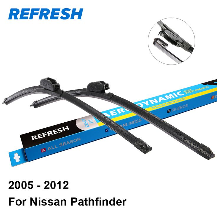 """Refresh Wiper Blades for Nissan Pathfinder 24""""&18"""" Fit Hook Arms 2005 2006 2007 2008 2009 2010 2011 2012 #Affiliate"""