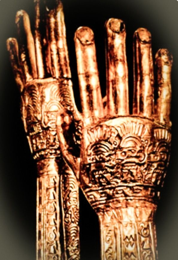 JOJO POST STAR GATES: THOUSANDS YEARS OLD GOLD GLOVES??? WHO MADE THESE??? WHY?? from the Chimú culture of Peru, ca. 1200 A.D WHAT DO YOU SEE?? WHAT DO YOU THINK?? WHAT DO WE KNOW???