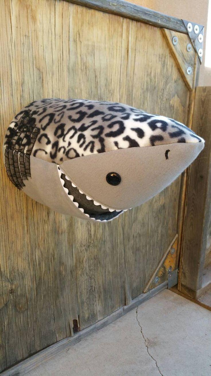 Shark Faux Taxidermy Head by CharlottesBliss on Etsy