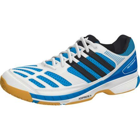 Chaussures Adidas badminton homme BT Feather Blanc/Bleu