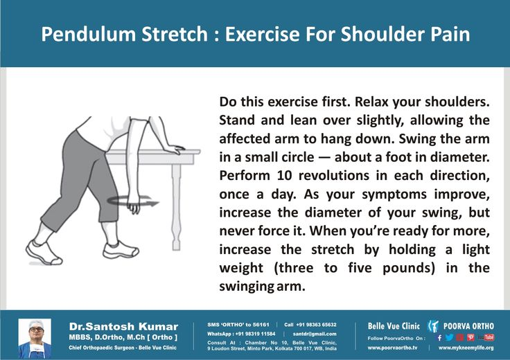 Do this Pendulum Stretch Exercise for Shoulder Pain. If pain persist, call +91-9836365632. #DrSantoshKumar