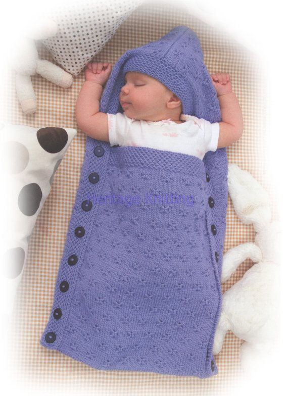 This Pdf Knitting Pattern Is For This Cosy Babys Sleeping