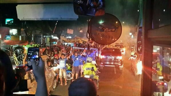 AREMANIA celebrate of football club arema at lawang east java