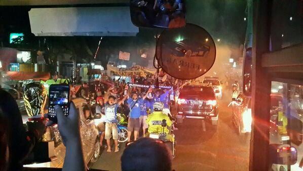AREMANIA celebrate of football club arema at lawang east java