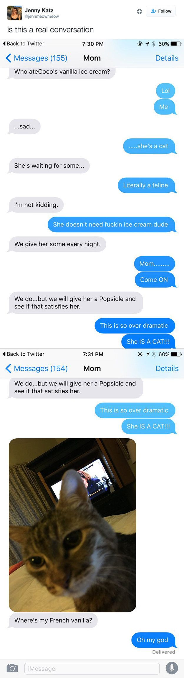 This very dedicated pet owner. | 21 Funny Texts That You Won't Be Able To Get Through Without Laughing