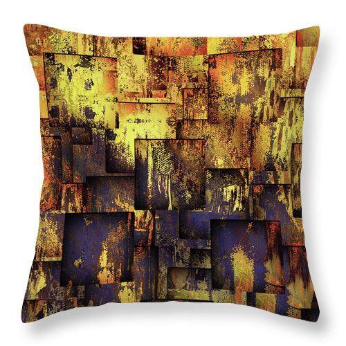 The Grunge Of Life Contemporary Abstract Art Throw Pillow for Sale by Georgiana Romanovna https://fineartamerica.com/products/the-grunge-of-life-contemporary-abstract-art-georgiana-romanovna-throw-pillow.html