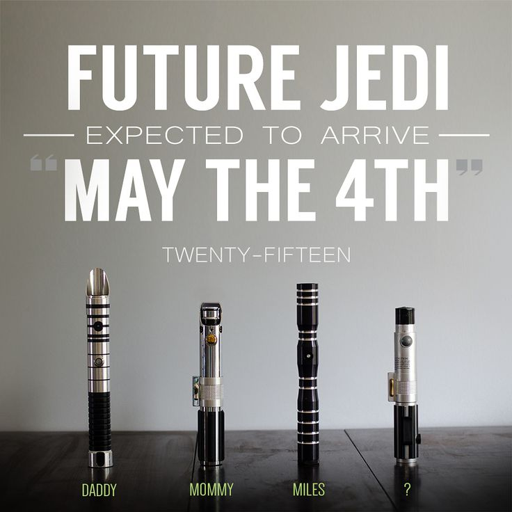 Star Wars expecting baby announcement