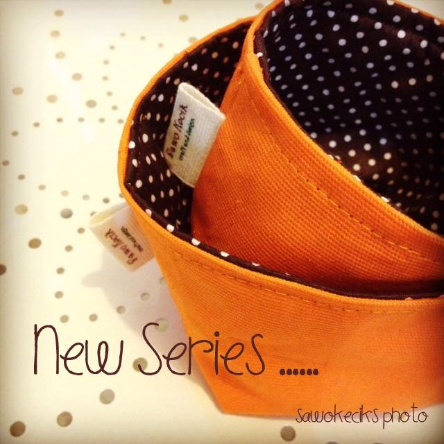Orange-PolkaBrown Set