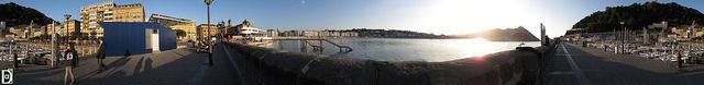 Harbour of San Sebastian Donostia 360 by El Negro Vikingo, via Flickr.