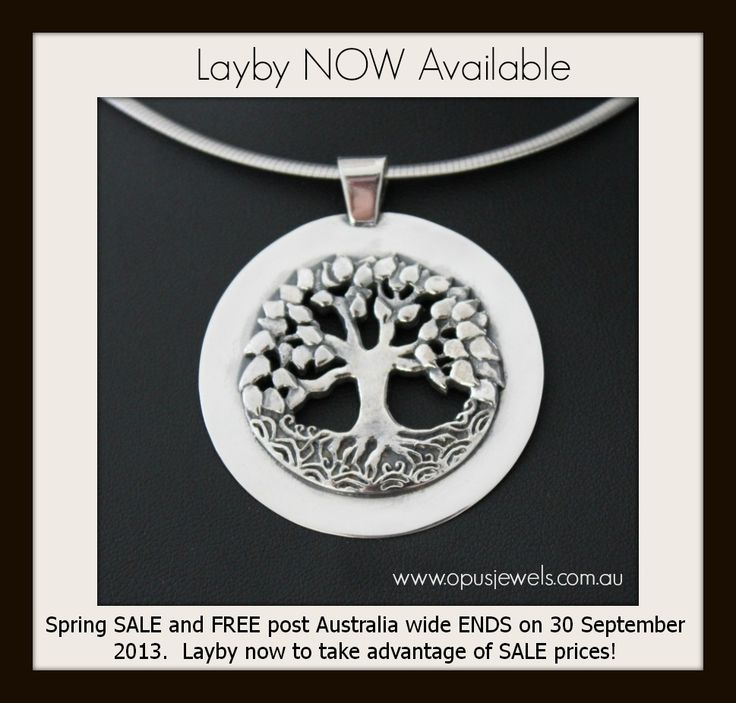 Layby now available via our website www.opusjewels.com.au on our entire range of gorgeous designer sterling silver and gemstone jewellery!