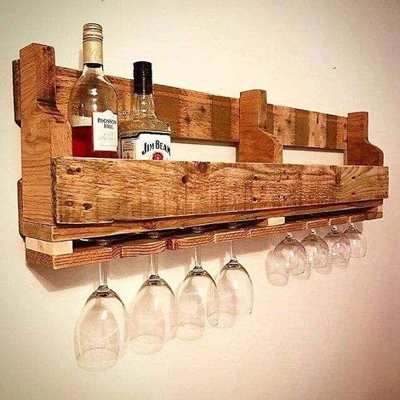 Made From Reclaimed Pallet Wood And Oak This Solid Wine Rack Measures 1 Meter By 30cm