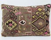 16x24 lumbar kilim pillow lumbar support pillow neck support pillow long lumbar pillow large lumbar pillow burlap lumbar pillow pastel 22690