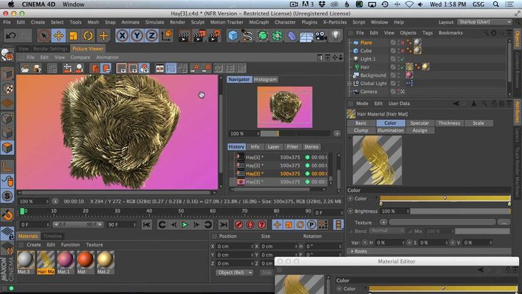 Make Complex Geometry Quickly With Hair And Brushes