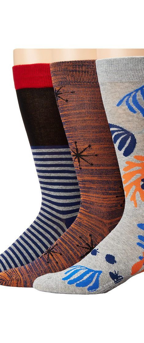 Richer Poorer Crew (Red/Black/Orange/Heather Grey) Men's Crew Cut Socks Shoes - Richer Poorer, Crew, M3G-AW1604, Footwear Socks Crew Cut, Crew Cut, Socks, Footwear, Shoes, Gift - Outfit Ideas And Street Style 2017
