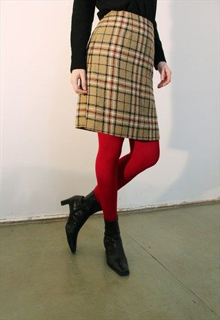 Wool+Blend+Twin+Peaks+Skirt