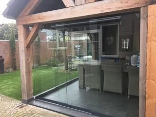 2 glazen schuifwanden geplaatst in Oss. #veranda #veranda ...