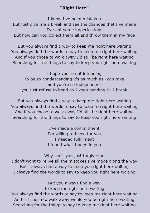 Staind Right Here Lyrics Great Song Lyrics Here Lyrics Staind Lyrics