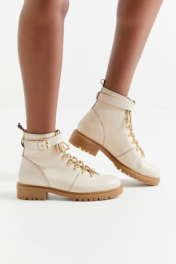 4b007363ee9 UO Jessa Leather Hiker Boot | Shoes Shoes Shoes | Shoes, Boots, Shoe ...