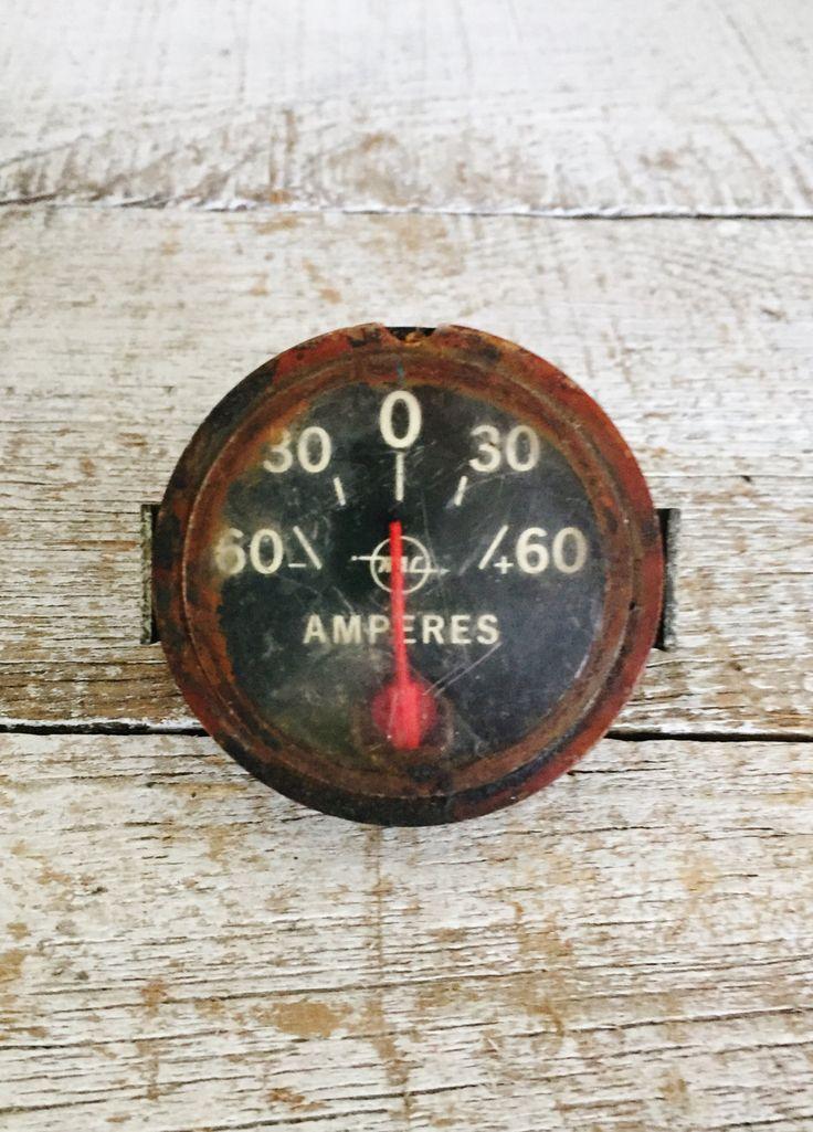 Oil For Measuring Instruments : Gauge vintage amperes gage steampunk antique