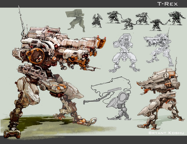Learn to draw Mechs Photoshop - YouTube