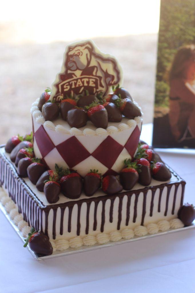 MSU Mississippi State University Bulldog Groom's Cake