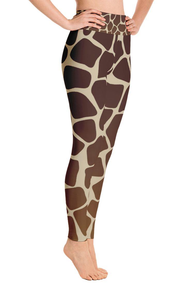 Giraffe Leggings - Giraffe Costume - Yoga Leggings - Print Leggings - African Animals