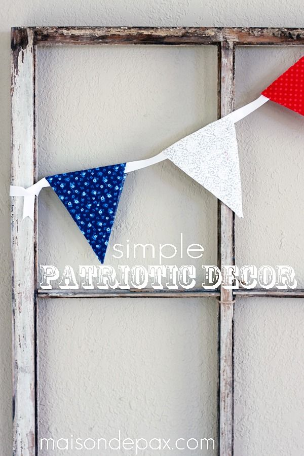 Patriotic Decor Home Tour | Simple diy, Holidays and Garlands