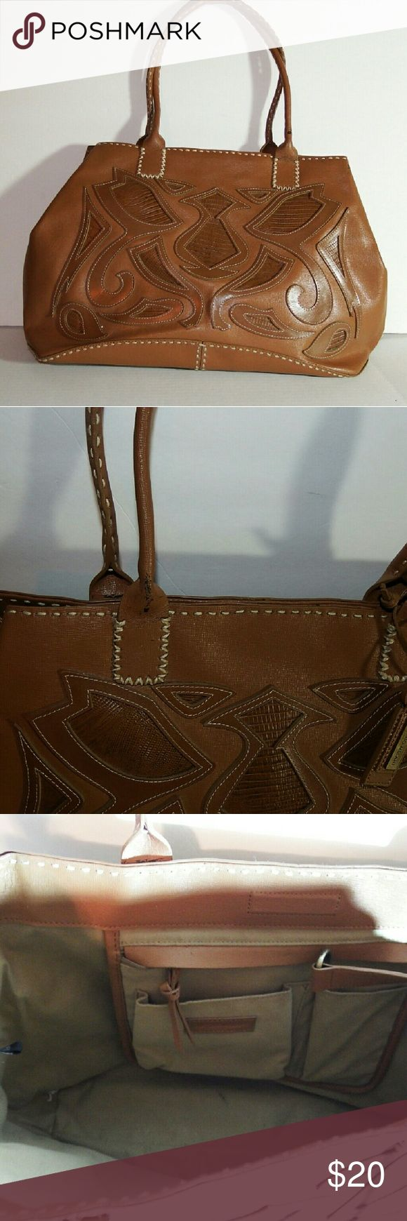 Antonio Melani Handbag Leather Antonio Melani Handbag, Canvas, has some wear but still beautiful ANTONIO MELANI Bags