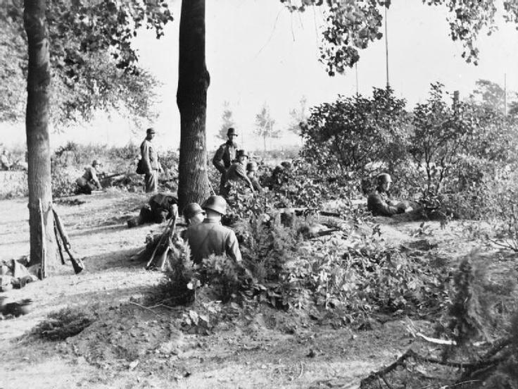 arnhem 1944 operation market garden. Germans in defensive positions.