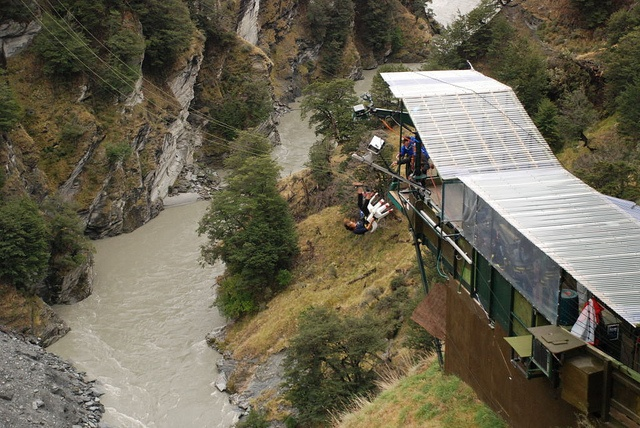 Shotover Canyon Swing, Queenstown, NZ