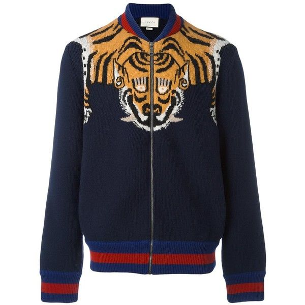 9bf85f8e Gucci tiger jacket ($1,380) ❤ liked on Polyvore featuring men's ...