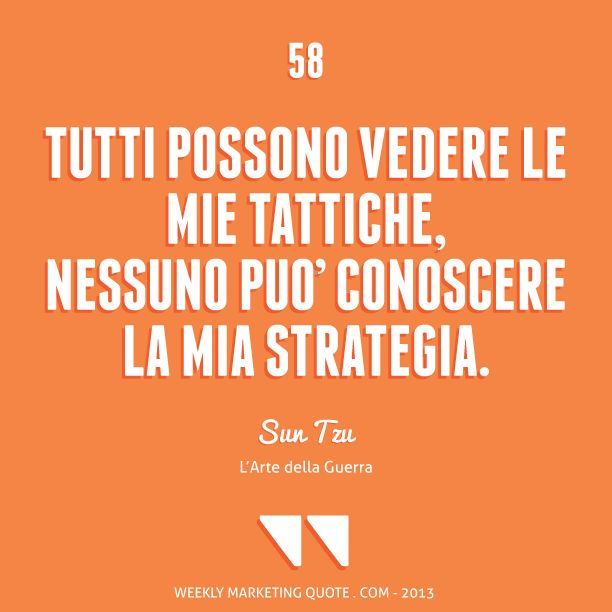 Citazione di Marketing 58: Sun Tzu - Weekly Marketing Quote
