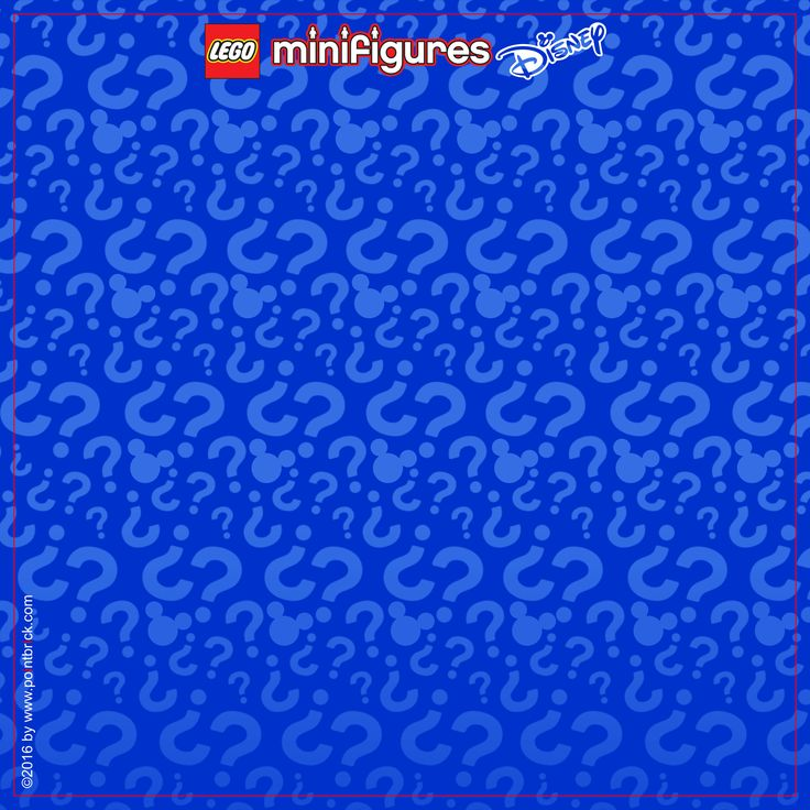 LEGO Minifigures Display Frame - Series Disney - Background 230mm Logo Top…