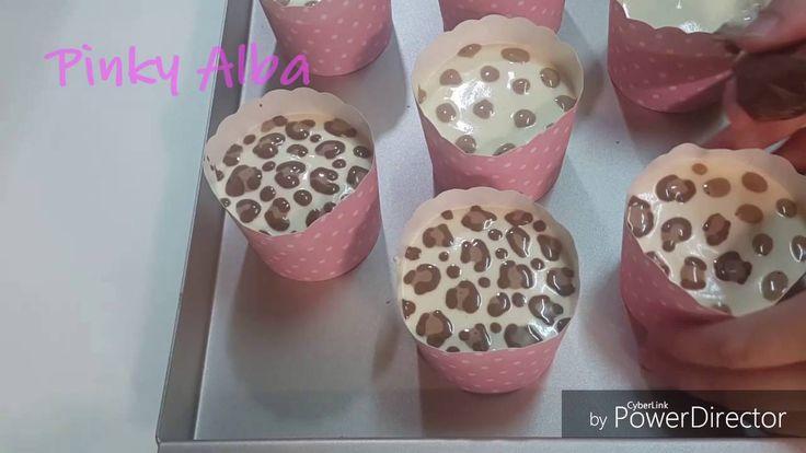 豹紋杯子蛋糕畫法 加碼長頸鹿圖紋 - YouTube
