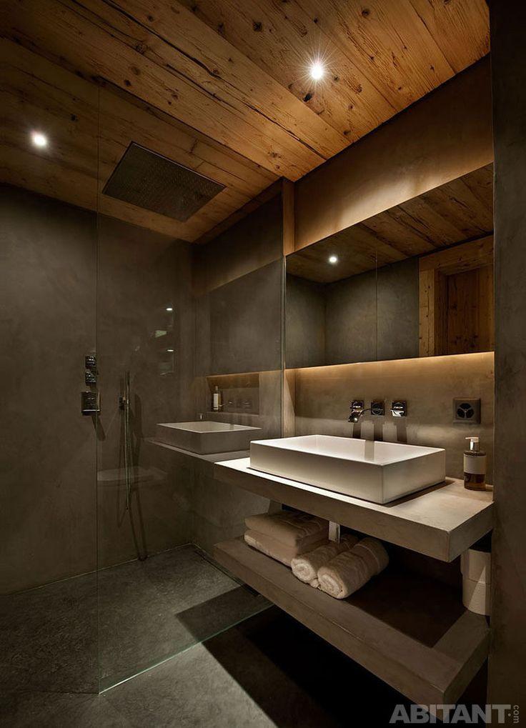 Потолок из антикварной древесины