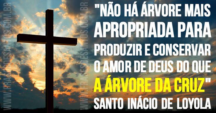 """""""Não há árvore mais apropriada para produzir e conservar o amor de Deus do que a árvore da Cruz."""" SantoInáciodeLoyola"""