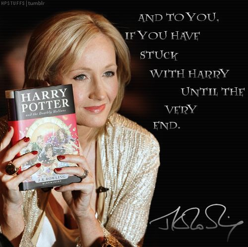 Dear J.K. Rowling, Thank you. I will always love you for bringing magic to my childhood.