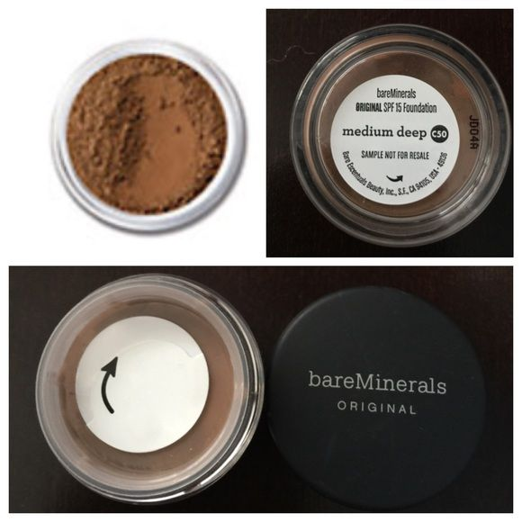 NEW bareMinerals Bronzer / Medium Deep Foundation New bareMinerals original SPF 15 foundation in medium deep. Can be used as a bronzer as well. Sample size approx .75 grams Sephora Makeup Foundation