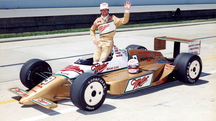 84 Danny Sullivan pilots Miller High Life livery in 1985 Indy 500