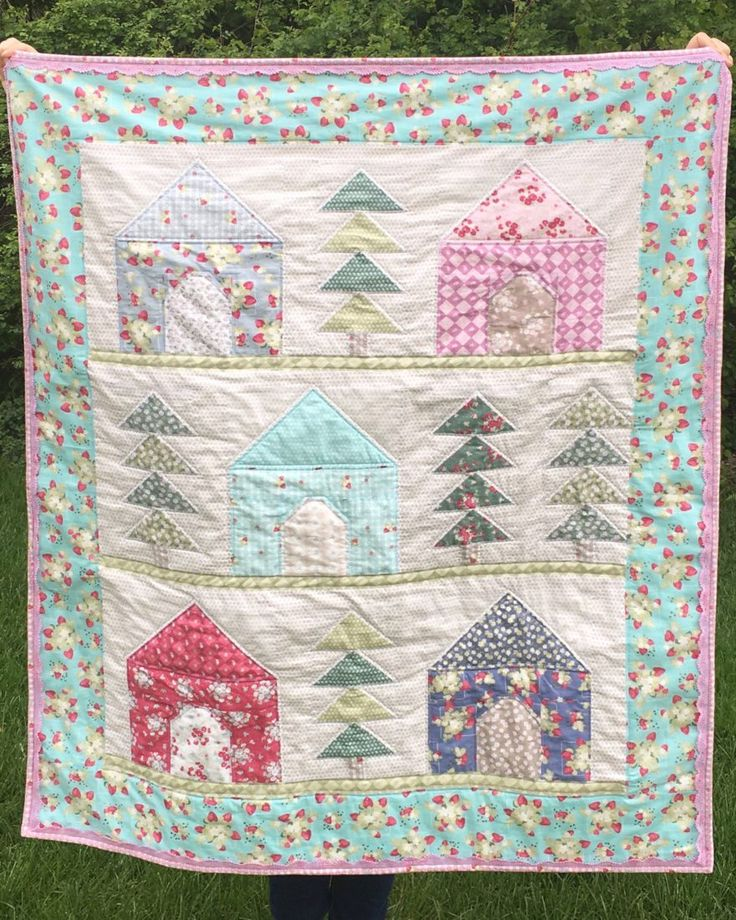 Per the usual these days (haha!), I am way past due sharing this free Cozy Cabin Quilt pattern. :) So without further ado, here is the free printer-friendly PDF pattern! I made this pattern for Spr…
