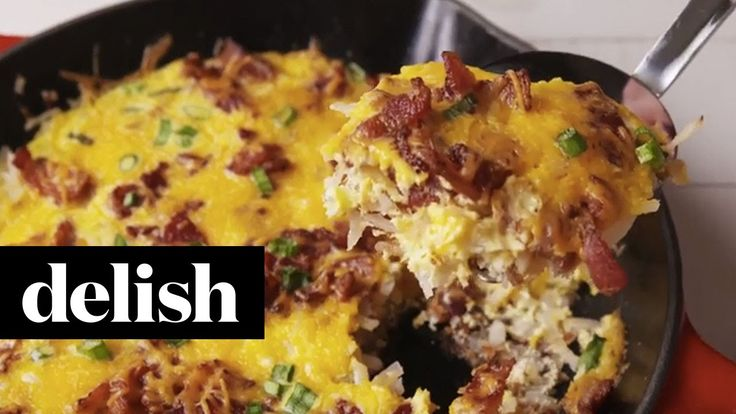 Cowboy Breakfast Skillet | Delish | Videos | Pinterest | Breakfast ...