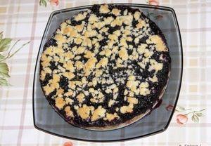 drobenkový koláč s pudingem