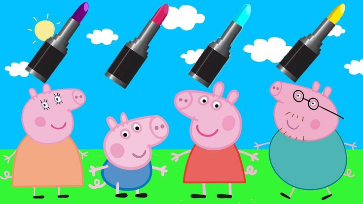Colors for Children to Learn with Masha Peppa Pig Wrong Makeup Lipstick ...